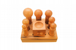 Wooden Set of 7 Dapping Punches 25.4mm - 63.5mm and Doming Block to Suit. J2097